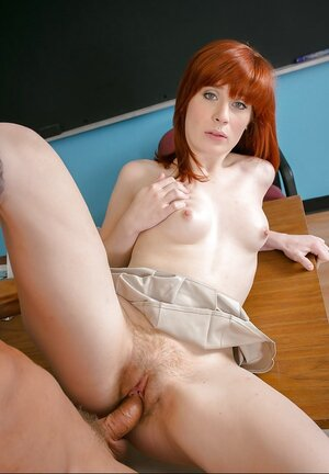 Teacher and plus redhead have passionate sex uniting fun units in different variations