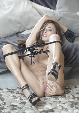 Czech 18-19 y.o. Michaela Isizzu is a impeccable Totally hardcore show performer broadcasting her snatch