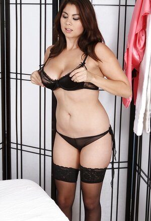 Excellent Asian masseuse will make a dude happy wearing just black stockings